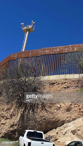 On the night of Oct 10 US Border Patrol agents fired their service weapons through this border fence in Nogales a divided city on the USMexican...