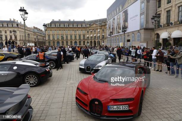 On the occasion of 110 years of Bugatti, 23 owners of Chiron and Veyron travel across France to their assembly plant in Molsheim. Here the cars have...