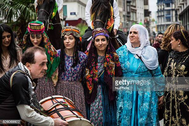 On the occasion of the 2nd edition of the Kurdish Cultural Week in Brussels, on 24th September 2015, a march with traditional costumes, music, and...