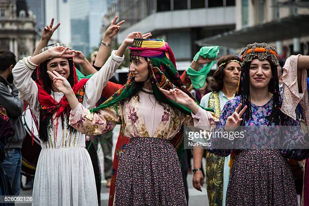 On the occasion of the 2nd edition of the Kurdish Cultural Week in Brussels on 24th September 2015 a march with traditional costumes music and with a...