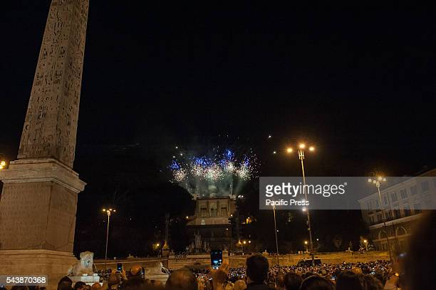 On the occasion of the feast of Saints Peter and Paul it has renewed the custom of fireworks that took place this year on the terrace of the Pincio...