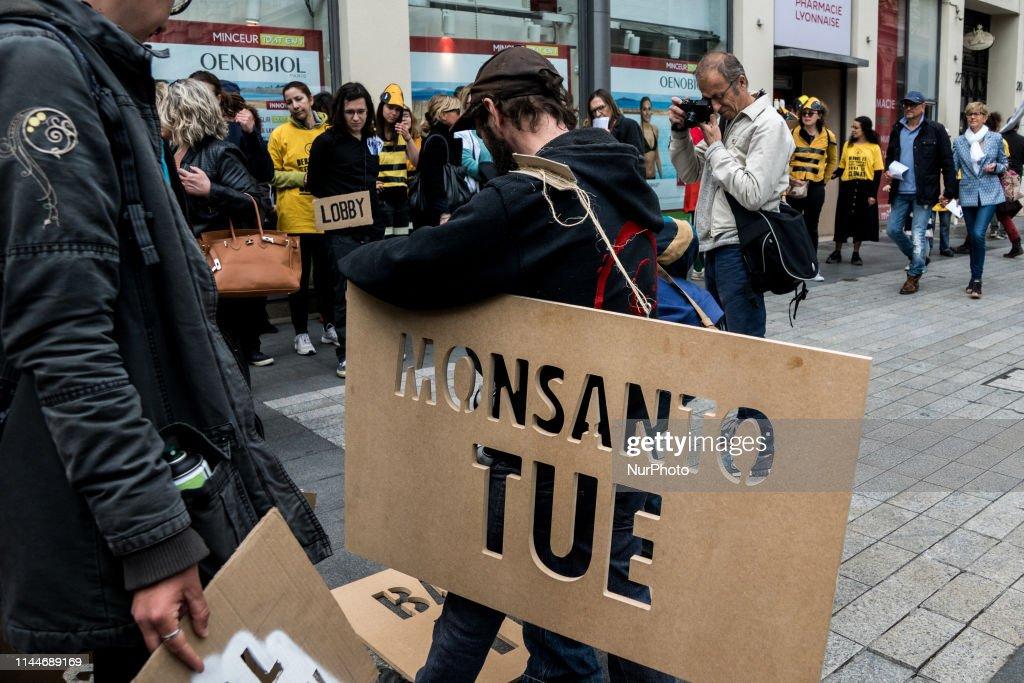 FRA: Internation Al Day Against Bayer-Monsanto In France