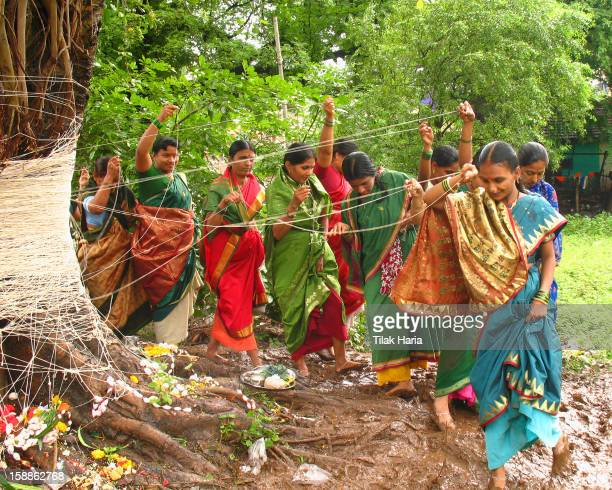 On the occasion of Vat Savitri the women pray for the long life of their husbands. The long threads are tied around the Banyan tree. Banyan tree is...