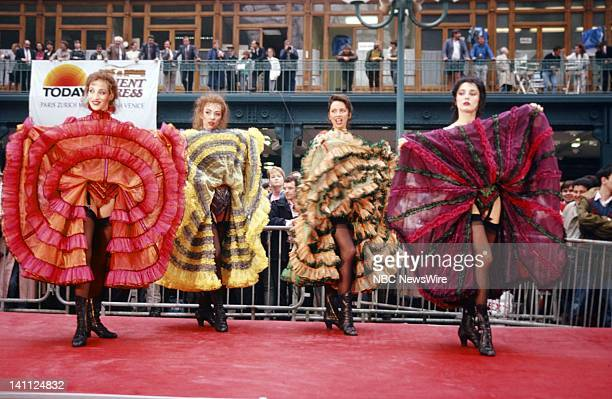 TODAY TODAY on the Orient Express 1988 Pictured Cancan dancers perform at the Gare du Nord train station in Paris France in on May 9 1988 Photo by Al...