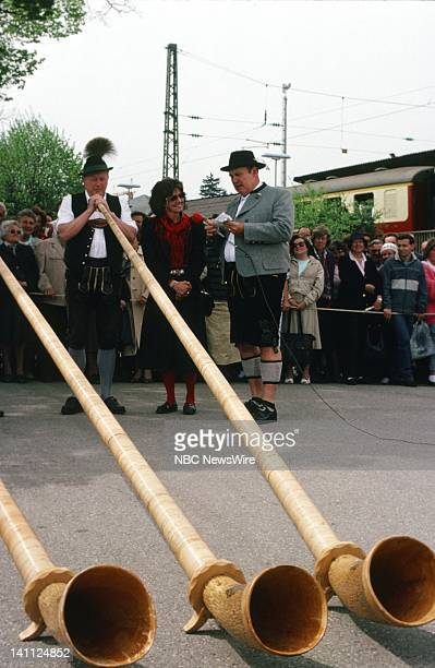 TODAY TODAY on the Orient Express 1988 Pictured Locals perform on the alphorn NBC News' in Starnberg outside of Munich West Germany on May 11 1988...