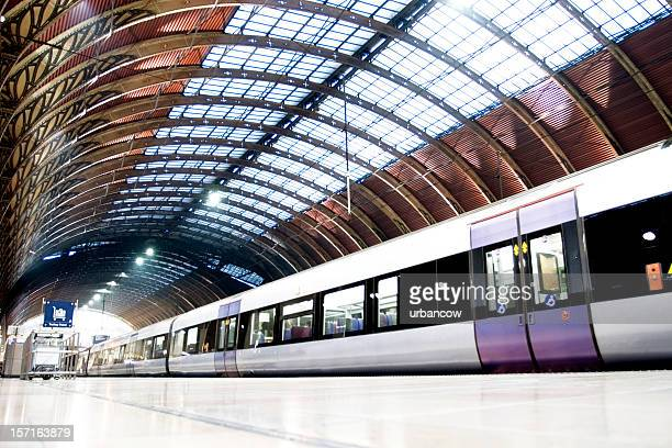 on the platform - railway station stock pictures, royalty-free photos & images