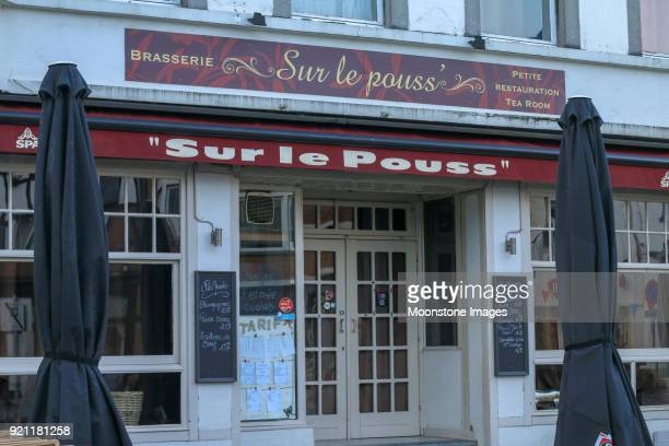 sur le pouss in spa, belgium - brasserie stock pictures, royalty-free photos & images