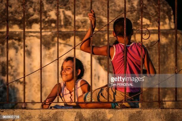 On the railings at dusk Trinidad