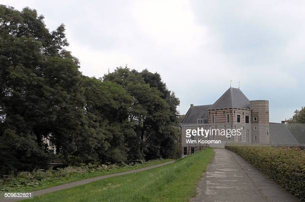 On the ramparts of Gorinchem - the Netherlands. A view from the footpath at the monumental Tolhuis, build in 1598.