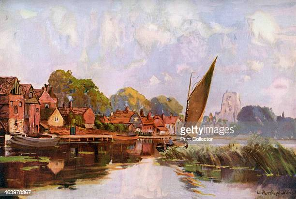 'On the River at Beccles' Suffolk 19241926 A print from Hutchinson's Britain Beautiful edited by Walter Hutchinson Volume 4 19241926