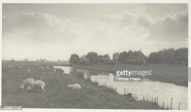 On the River Bure, 1886. A work made of platinum print, frontispiece from the album 'life and landscape on the norfolk broads' ; edition of 200....