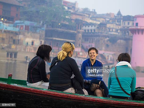 on the river ganges - varanasi stock pictures, royalty-free photos & images