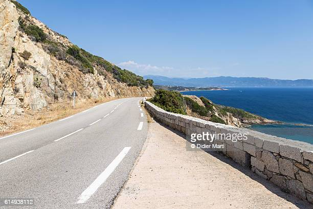 On the road in Corsica