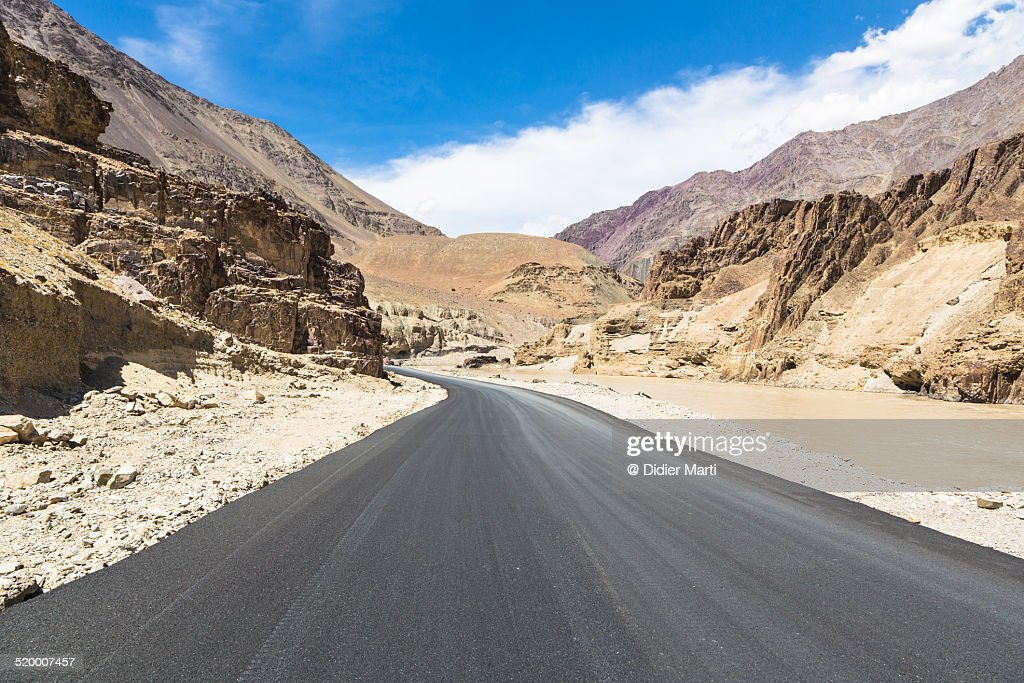 On the road in Ladakh, India : Stock Photo