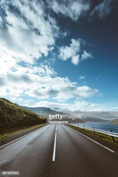 on the road in the faroe islands