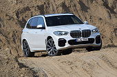 BMW X5 on the road