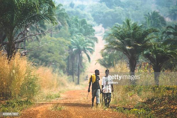 on the road. - togo stock pictures, royalty-free photos & images