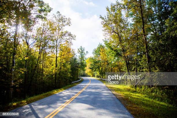on the road - burlington vermont stock photos and pictures