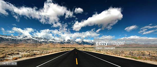 on the road to alabama hill - lone pine california stock pictures, royalty-free photos & images