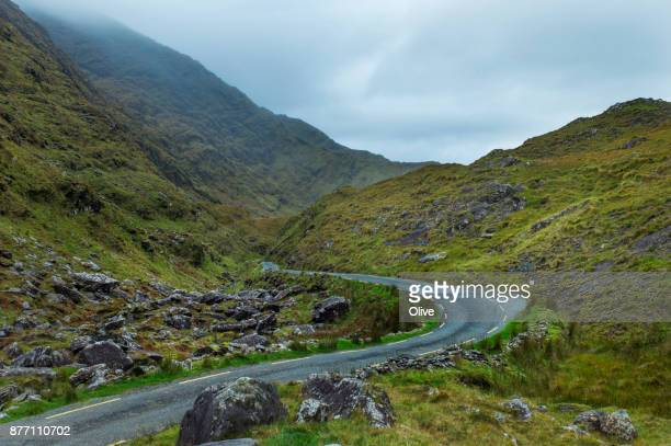 On the road to conor pass, Dingle Bay,