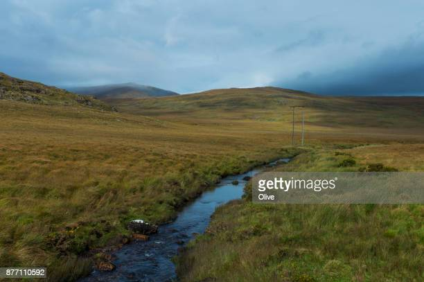 On the road to conor pass, Dingle Bay,river