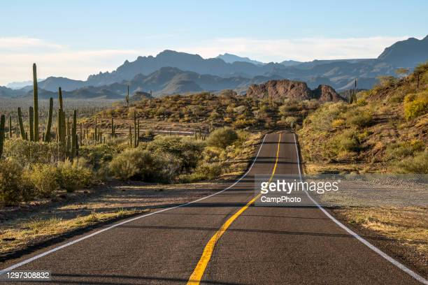 on the road to loreto - mexico stock pictures, royalty-free photos & images