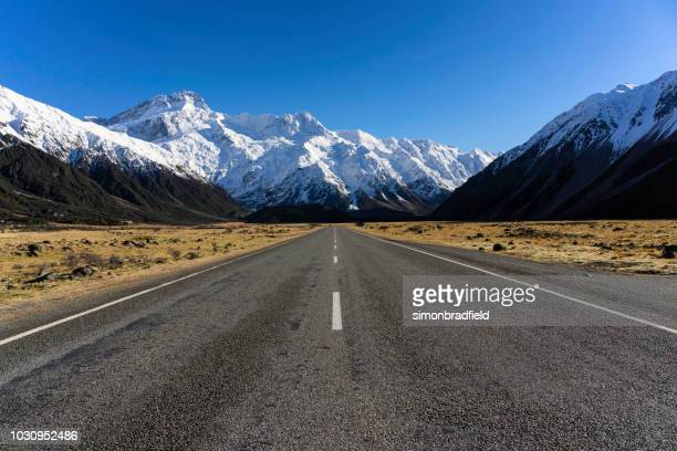 On The Road To Mt Cook, New Zealand