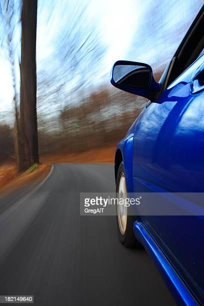 Auf der Straße mit motion blur