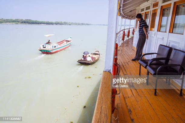 on the rocket steamer - khulna stock photos and pictures