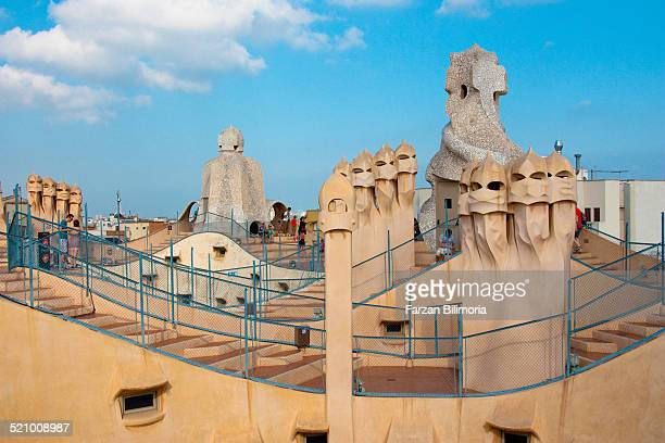 On the roof at La Pedrera Barcelona