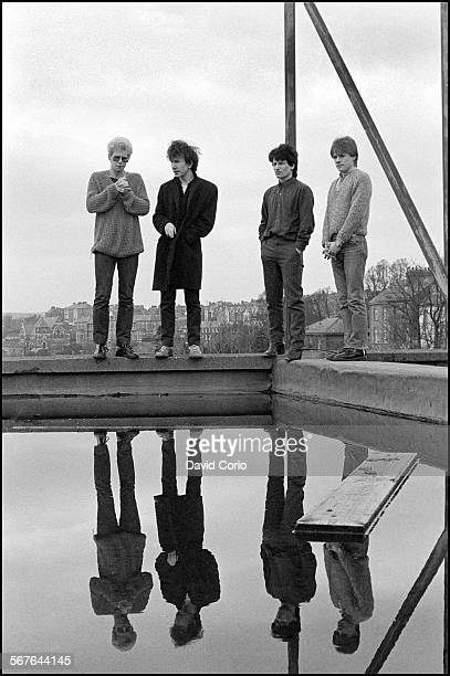 U2 on the roof of the Cork Country Club Hotel Cork Ireland March 2 1980 LR Adam Clayton The Edge Bono Larry Mullen Jnr