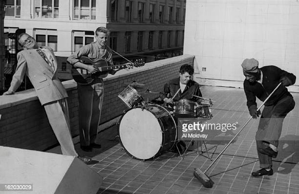 MAR 6 1953 MAR 8 1953 On the roof the boys find on appreciative audience in Gene Amole and Charlie Barnett In fact Barnett was so moved by the boy's...