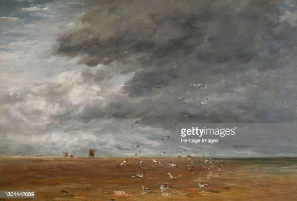 On the Sands, 1851. Artist David Cox the elder.