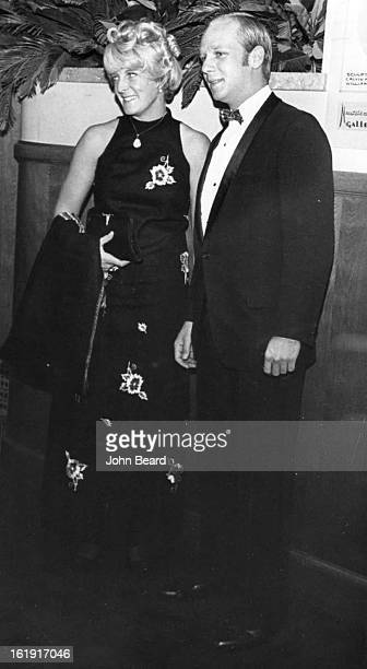 OCT 11 1968 OCT 10 1969 On the Scene for Opening of Gypsy Firstnighters at Bonfils Theatre Thursday evening included Miss Carol Ann Rymer and John C...