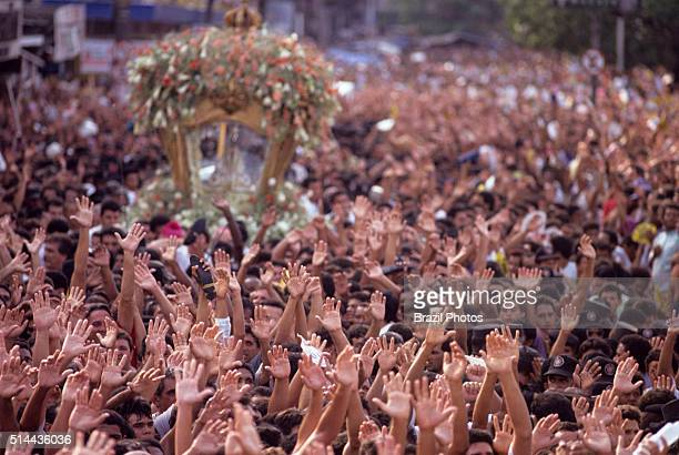 On the second Sunday in October Para State celebrates the largest and greatest religious event in Brazil The Cirio of Nazare a long procession of...