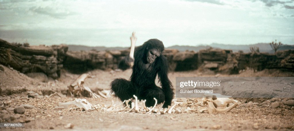 On the set of 2001: A Space Odyssey : News Photo