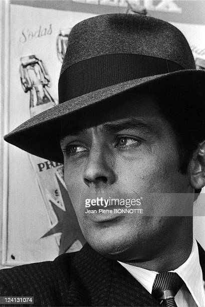 On the set of 'Borsalino' by Jacques Deray In Marseille France In 1970 Alain Delon