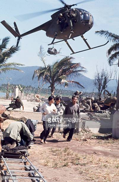 On the set of Francis Ford Coppola's Vietnam War epic Apocalypse Now filming April 28 1976 in Baler Philippines The new director's cut titled...