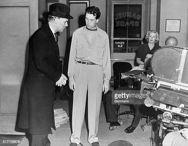 On the set of Maltese Falcon Motion pictured released in 1941