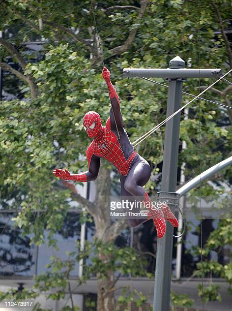On the set of 'SpiderMan 3' on location in Foley Square in lower Manhattan June 10 2006