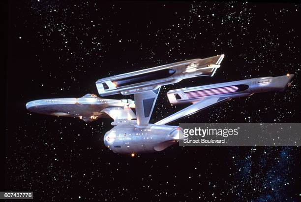 On the set of Star Trek: The Motion Picture, directed by Robert Wise.