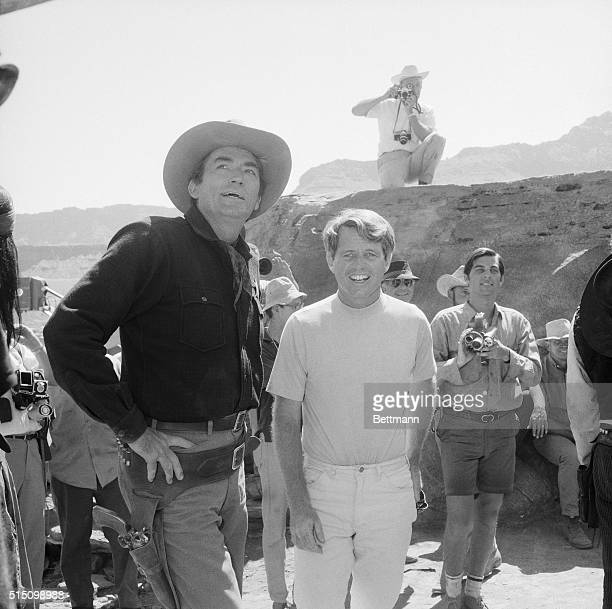 On the set of the 1969 film MacKenna's Gold