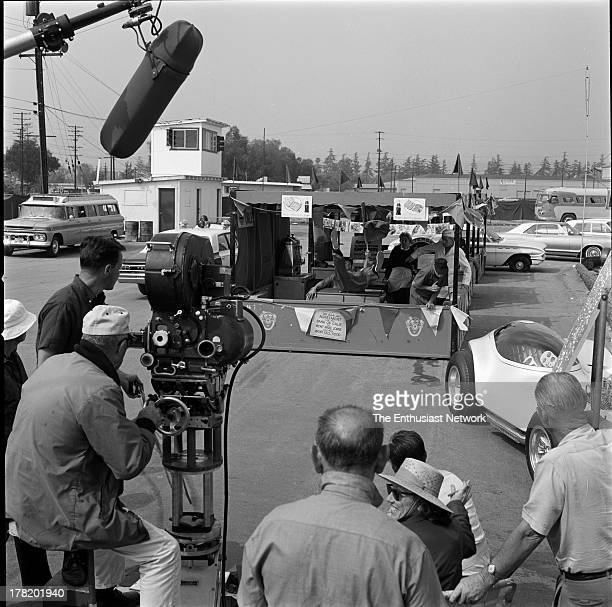 On the set of the American International Pictures feature film 'Bikini Beach' starring Frankie Avalon Annette Funicello Harvey Lembeck Keenan Wynn...