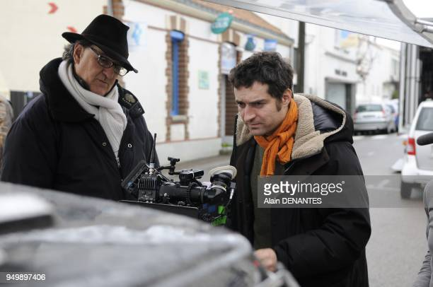 On the set of the film 'Americano' directed by Mathieu Demy in Noirmoutier western France on January 06 2011 This is the first feature film directed...