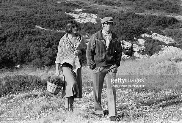 On the Set of the Movie Borsalino In Marseille France In November 1969 French actor Jean Paul Belmondo with female counterpart Catherine Rouvel on...