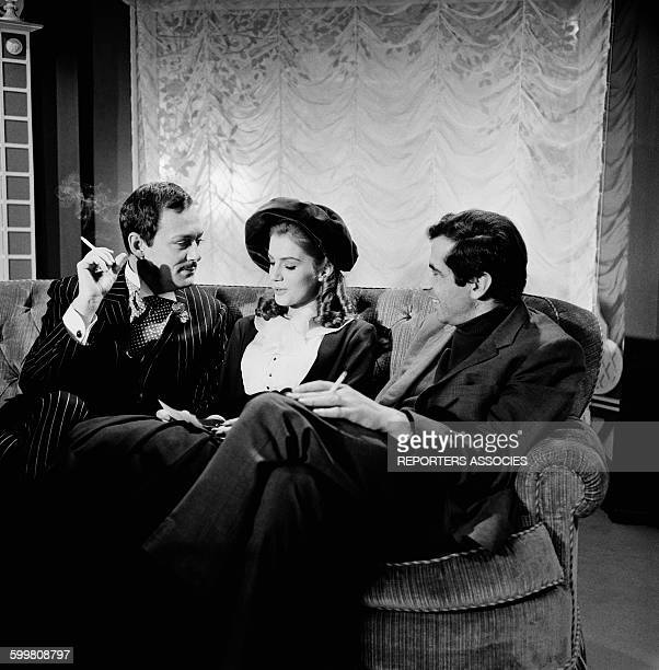 On The Set Of The Movie 'La Ronde' - 'Circle of Love' - With Actors Maurice Ronet and Catherine Spaak and Director Roger Vadim, in Paris, France, in...
