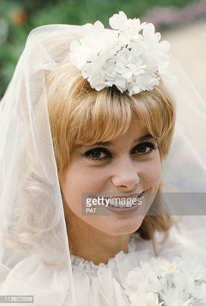 On the Set of the Movie Vice and Virtue In France In 1963 French actress Catherine Deneuve in her first notable film role 'Vice and Virtue' directed...