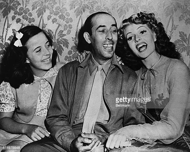 On the set of You Were Never Lovelier in 1943 are Carmina Cansino Rita Hayworth's cousin Eduard Cansino her father and Rita Carmina is the godmother...
