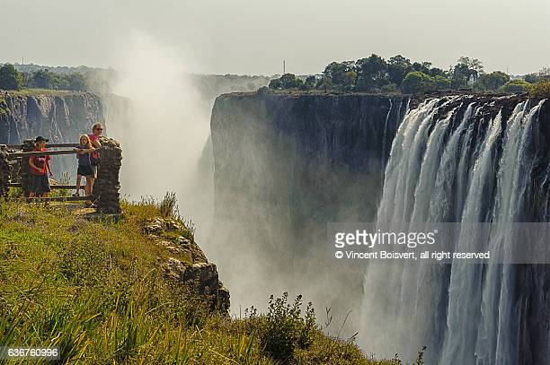 On the side of Victoria Falls