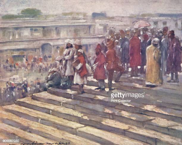 'On the Steps of the Jumma Masjid' 1903 Also known as the Imperial Durbar the Delhi Durbar was held three times in 1877 and 1911 at the height of the...